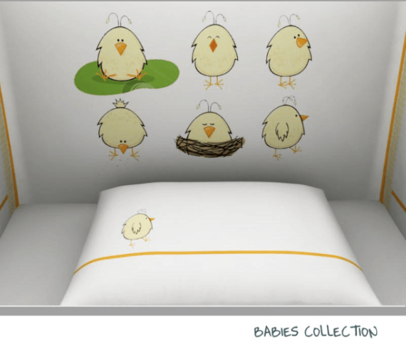 Baby Line -Chicken collection - Photo 1 - Egyptian Cotton - My Cotton Dream