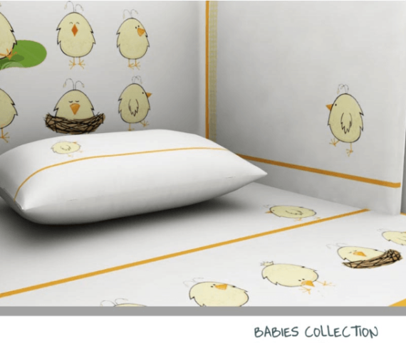 Baby Line -Chicken collection - Photo 4a - Egyptian Cotton - My Cotton Dream